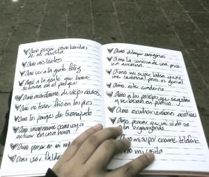 """I love"" sentences"